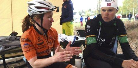 NORGESMESTERE: Helene Marie Fossesholm og Erik Hægstad vant kortbane-NM i terrengsykling.