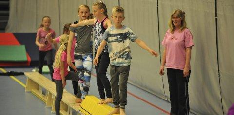 Oppvisning: Alle partier hadde sin oppvisning da Vardal Turnforening hadde sommeravslutning i helga. Foto: Per Hovland