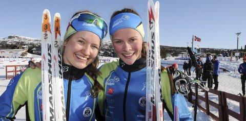 Sterke kort: Tuva Bakkemo (t.v) og Mathilde Skjærdalen Myhrvold gikk glimrende renn i VM-mønstringen på Sjusjøen lørdag.