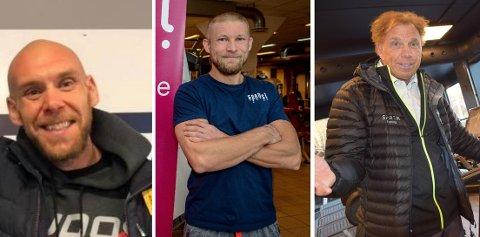 LEIT: Truls Lien fra Mudo Stavern, Torgeir Jørgensen fra Spenst og Tom Erik Oxholm fra Family Sports Club synes alle det er leit at treningssentre igjen må holde stengt i Larvik.