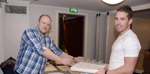Plukket ut: Robin Myren (t.v.) og Vegar Bergli ved No3 er stolte over å ha blitt plukket ut som månedens restaurant.