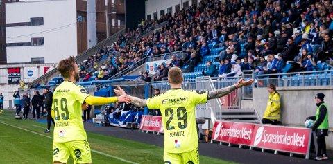 Scorer mange mål: Tidligere Sarpsborg 08 spiller Ronnie Schwartz  og  Patrick Mortensen fortsetter å score mange mål i Danmark.