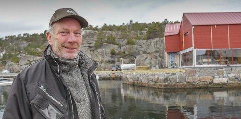 Vårlig tegn: Entreprenør Ole Georg Fjellheim oppdaget sitronsommerfugl fredag. Arkivfoto