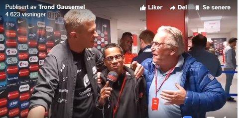 Brann: Etter kampen der Sportsklubben Brann vant 1-0 mot Lillestrøm søndag, skulle utflytta øystreslidring, Trond Gausemel, gjøre et intervju med Brann-trener Lars Arne Nilsen. Det gikk ikke helt som planlagt. Da kom også Davy Wathne med i intervjuet.
