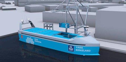 Dette er skipet som Kongsberg Gruppen skal levere nøkkelteknologi til.
