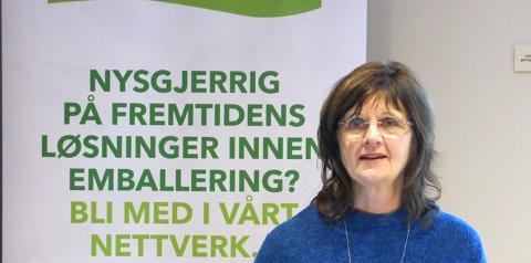 STORT POTENSIAL I NORGE: Forskningssjef Helga Næs hos Nofima sier til Ås Avis at prodkusjon og resikrulering av emballasje i Norge har et stort potensial for både verdiskapning
