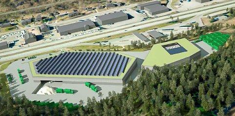 Ragn Sells AS vil bygge et stort avfallsanlegg tett innpå E18 i Kobbervikdalen.