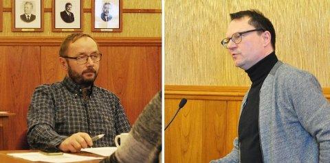 Aksjonærer i Visit Nordkapp AS - Lars Helge Jensen og ordfører Jan Olsen for kommunen.