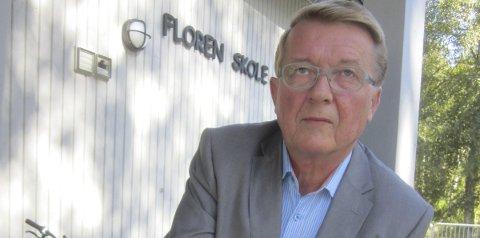 Har sagt stopp:  Eivind Borge og Frp har vært klare på at  Hvaler må greie seg  med de skolene man har, det er ikke penger til  ny skole.   Billedtekst