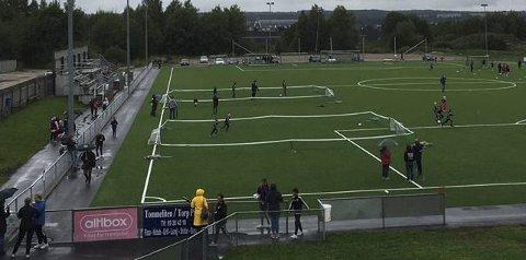 Nytt kunstgress: Torp IF har lagt nytt kunstgress med korkfylling. (foto: privat)