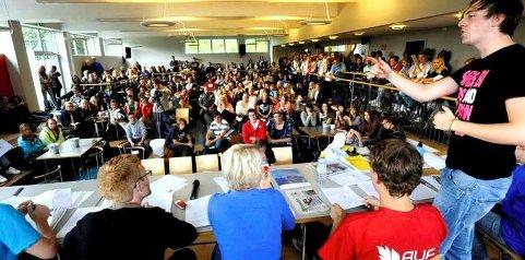 En skole fylt av engasjerte elever, om få år blir skolen samlet under samme tak på Kråkerøy.