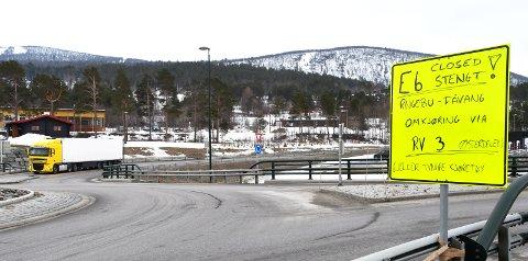 TUNNEL: Rundkjøringen på Dombås kan bli avløst av ny E6-tunnel, tilsvarende tunnelen på E16 Filefjell.