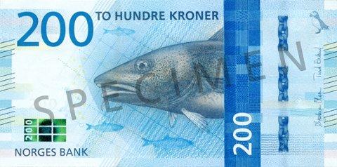 FRA NORGES BANK: Bilde som viser hvilke elementer som er trykket på seddelen.