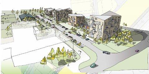 FRAMTIDA? Ein av illustrasjonane frå forslaget til Bark arkitekter i deira forslag til moglegheitsstudie for Stokkalandsmarka.