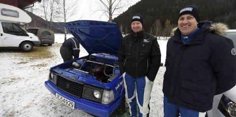 FORNØYDE: Duoen Øyvind Hoff (t.v.) og Olav Fredriksen er fornøyde med NM-innsatsen så langt.