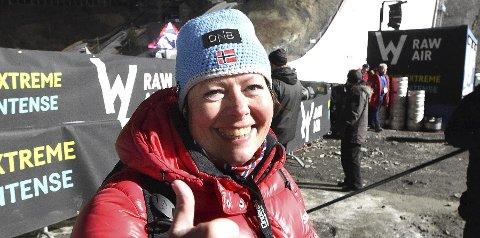 REKORDMÅLER: Grethe-Kristin Fretheim målte begge rekordhoppene på bursdahen sin.foto:ole john hostvedt