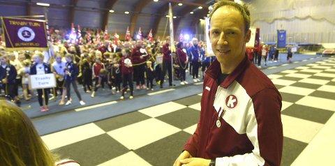 FORNØYD: Thomas Realfsen, lederen i KIFs turngruppe, var strålende fornøyd etter Gymnastikkfestivalen.