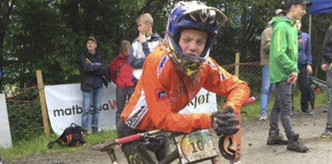 BEST: Mikkel Jemtegaard var klart rasket i klassen Boys 13-14 i Voss i helga. Foto: privat