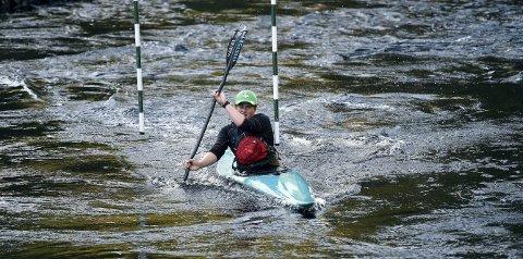VANT: Håvard Heggem, som her er i aksjon i Kloppfoss, vant juniorklassen i Ekstremsportveka.foto: ole john hostvedt