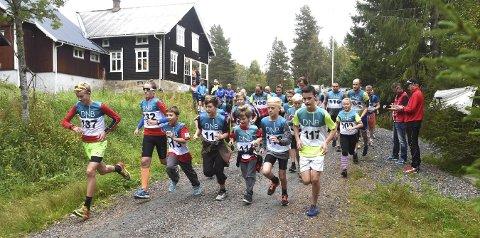 JUBILERER: Numedalsløpet arrangeres for 60. gang lørdag. Her fra starten ved Høgheim i Lyngdal i fjor.foto: OLE JOHN HOSTVEDT