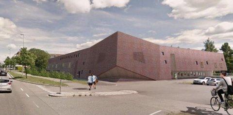 NY OG STØRRE: Illustrasjon av ny barnehage sett fra Fjellhammerveien. Den nye barnehagen skal etter planen ha plass til 183 barn og 48 ansatte.