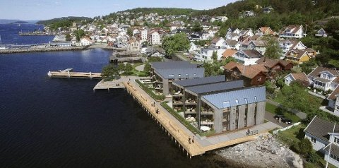 Lehmannsbrygga bidrar til å trekke opp antallet boliger på markedet. Men bruktboliger kunne det ha vært flere av, mener daglig leder Carsten Syvertsen hos Eiendomsmegler1 Drøbak.