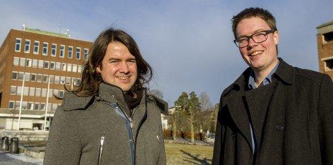 Er klare: Anders E. Graven (t.v.) og Morten Vollset fra Senterpartiet går for sentrumsalternativet.