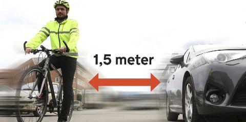 Godt RÅD: Slik er rådet fra NAF til både syklister og bilister nå som sykkelsesongen er i full gang.