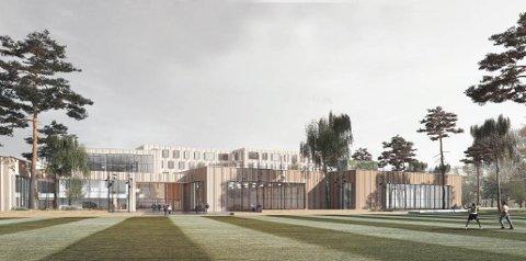 SKISSE: Slik skal den nye hallen på Sofiemyr bli.