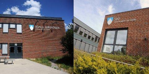 ARTIUM: Det var store forskjeller på vitnemålsutdelingene på Roald Amundsen videregående skole og Ski videregående skole.
