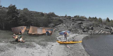 OVERNATTINGSPLASSER: Norges første sammenhengende padleled gir deg muligheten til å overnatte i slike «Padlehuker» langs padleledet.