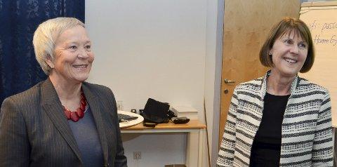 BER OM FORSLAG: HiL-rektor Katrine Skretting (t.v.) og HH-rektor Anna L. Ottosen ønsker navneforslag.FOTO: Bjørn-Frode Løvlund