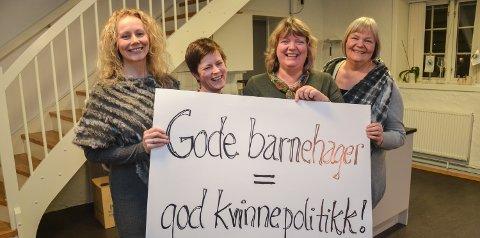 Komiteen: Maylill Kristiansen (tv), Ingrid Hvidsten Gabrielsen, Kjersti Øversveen og Bente Aaland. Foto: R. Undseth