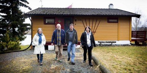 Haralds hytte: I denne hytta ved Glomma ble Udo Reichert, kona Christel og barna Christian og Stefanie kjent med Harald Andersen.  FOTO: LISBETH ANDRESEN
