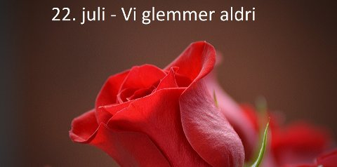 Ved markeringen i Steinkjer vil det være mulighet for å legge på roser.