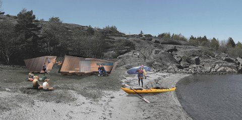 Overnatting: Slike padlehuker skal bygges på Ulvika i Svelvik.