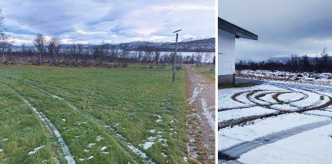 Sporene etter kjøringen sier det meste. Foto: Jørgen Forøy