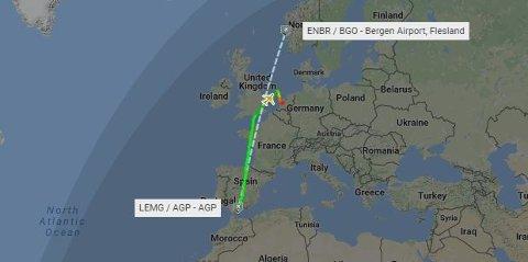 Flyet måtte omdirigeres til Amsterdam på grunn av en medisinsk nødsituasjon.