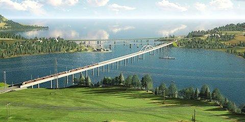 NORGES LENGSTE: Minnevika jernbanebru vil bli Norges lengste. Hæhre er tildelt oppdraget med å bygge brua.