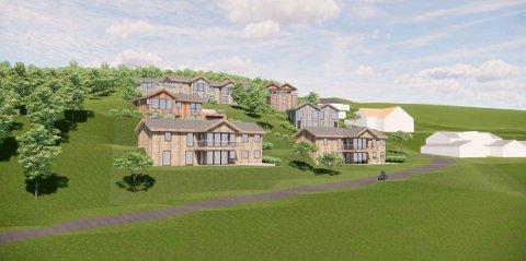 SKISSER: Slik skisseres det framtidige boligområdet på Søndre Øren i detaljreguleringsplanen.