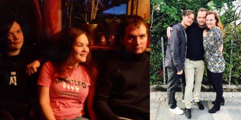 Jula 2007 / Sommeren 2017. På bildet til venstre var Håvard inne i ein depresjon, og beskriv seg sjølv som stille sint. Bildet til høgre er tatt dagen han var eit år rusfri.