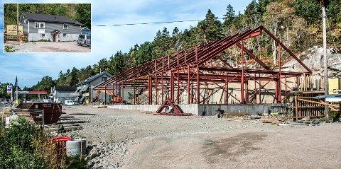 Reisverket til den nye Rema 1000-butikken på Vesterøy er på plass. Nå skal naboeiendommen selges.