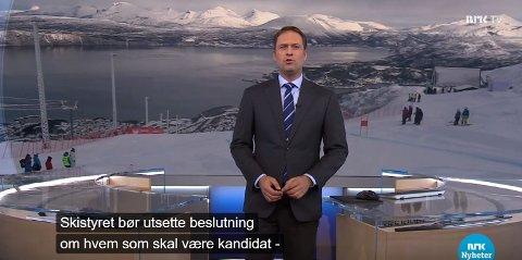 Skjermdump NRK Kveldsnytt fredag kveld.