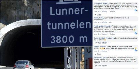 REAKSJONER: Flere lurer på hvorfor arbeidene i Lunnertunnelen må gjøres i høst.