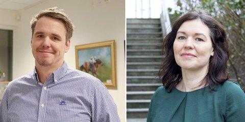 KARMØY-LEGER: Martin Eikrem er smittevernlege og  Katrine Marie Haga Nesse er kommuneoverlege.