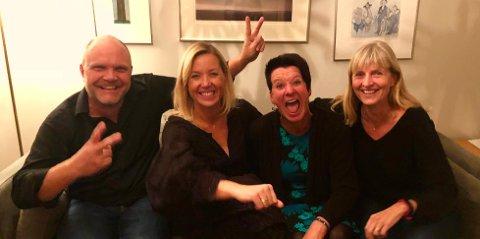Bilde fra et planleggingsmøte: Tom Olav, Jane, Marianne og Kjersti.