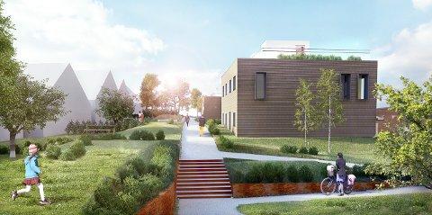 GRØNT: Utbygger sier de legger vekt på store og gode utearealer for beboerne og nærmiljøet.