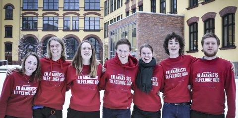 Fra venstre: Rebekka Jansen (Godlia), Viktor Hegerberg (Bøler), Mina Jørgensen Bergem (Ekeberg), Gaute Johnson (Holtet), Marie Børmer (Nordstrand), Sebastian Thurmer (Bekkelaget) og Oscar Partapuoli Goldman (Bøler). Foto: Privat