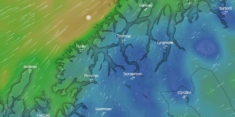 YTTERSIDA: Det er meldt mye dårlig vær i helga, men aller verst blir det altså på yttersida.