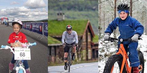 Vinner trøyer: Disse tre bildene går seirende ut av sykkeltrøyekonkurransen. Bildene er sendt inn av (fra venstre) Linn Marie Pedersen, Audun Løvstad og Karianne Hagen.